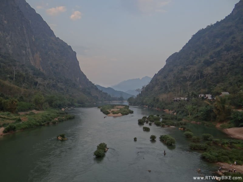 ... where the Route 1 to Sam Neua and Vietnam crosses the Ou River