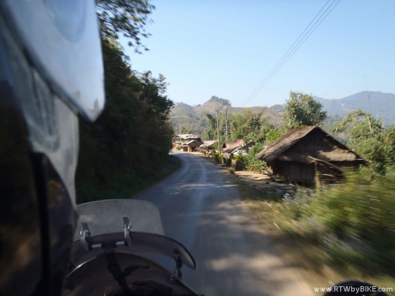 passing a mountain village