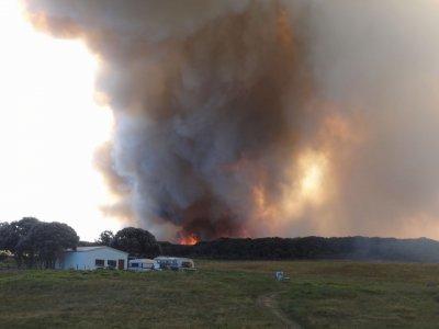 Maitai Beach, the fire is growing