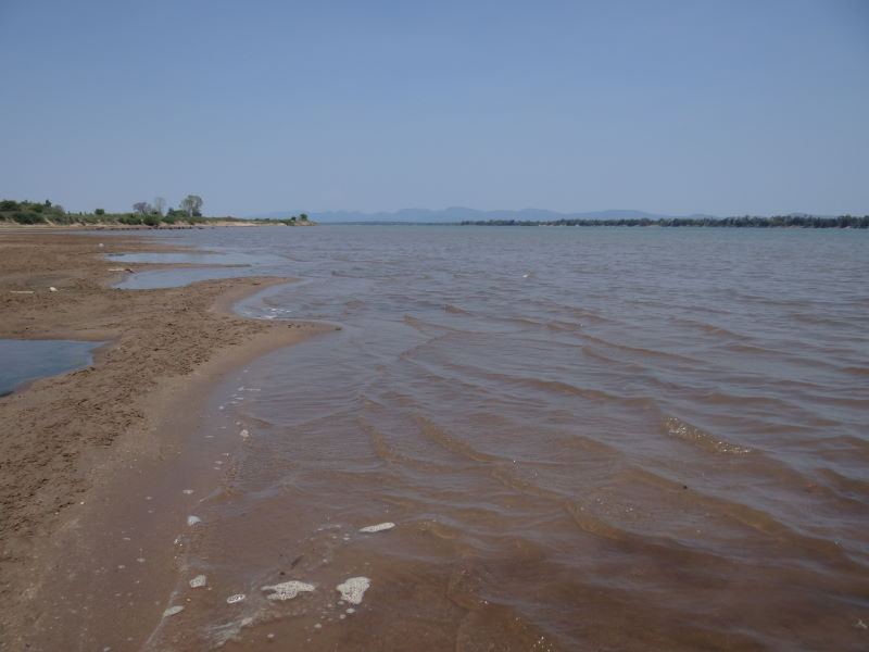 Mekong River bank, Champasak, Don Khong