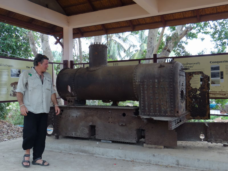 The remains of the first railway in Laos, the Don Det – Don Khon narrow gauge railway built by the French to bypass the Khone Phapheng Falls, Don Khon, Four Thousand Islands