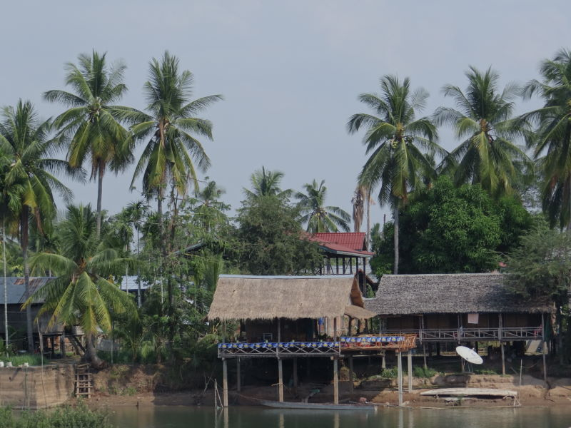 our hut at the Mekong River bank, Don Khon, Four Thousand Islands