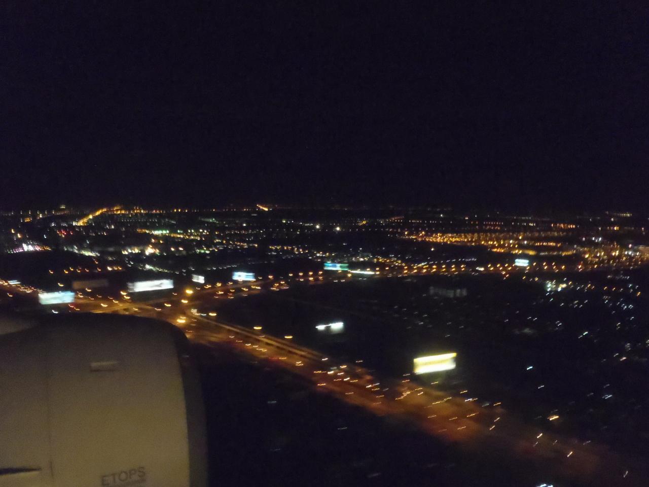 Bangkok at night from above